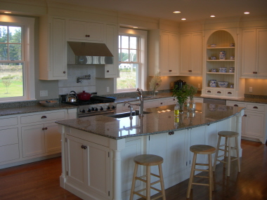 Kitchen detail in New England shingle style home