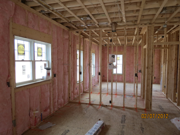 Insulated walls in a new old home