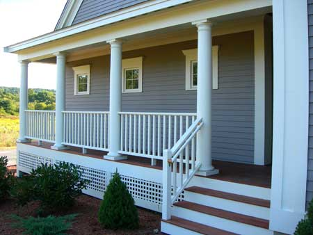 Traditional Porch New Old Home, Grafton Ma