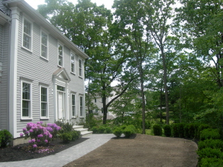 Photo of owner inspired custom design new home - front view