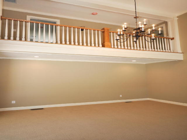 Photo of owner inspired custom design new home - Re Rm Balcony view
