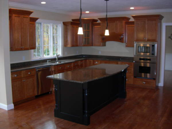 Photo of owner inspired custom design new home - kitchen view