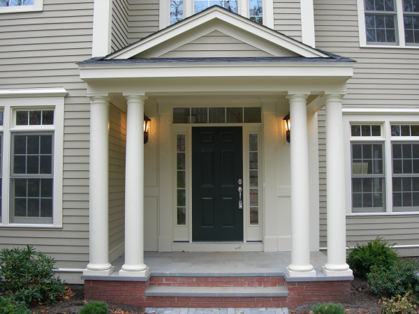 Photo of owner inspired custom design new home - front entrance view