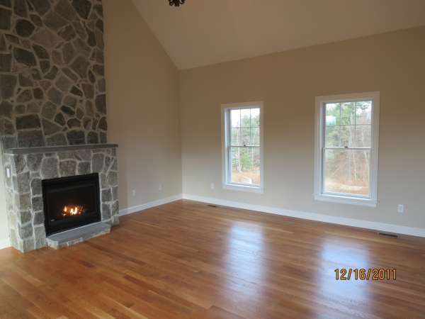 Photo of owner inspired custom design new home - Fm Rm view