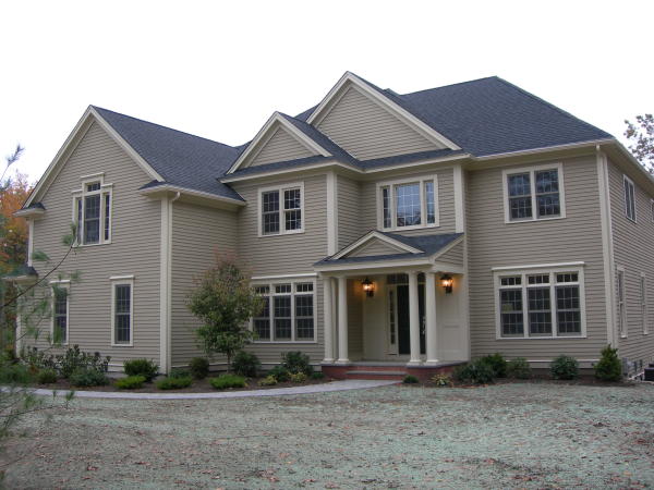 Photo of owner inspired custom design new home - finished view