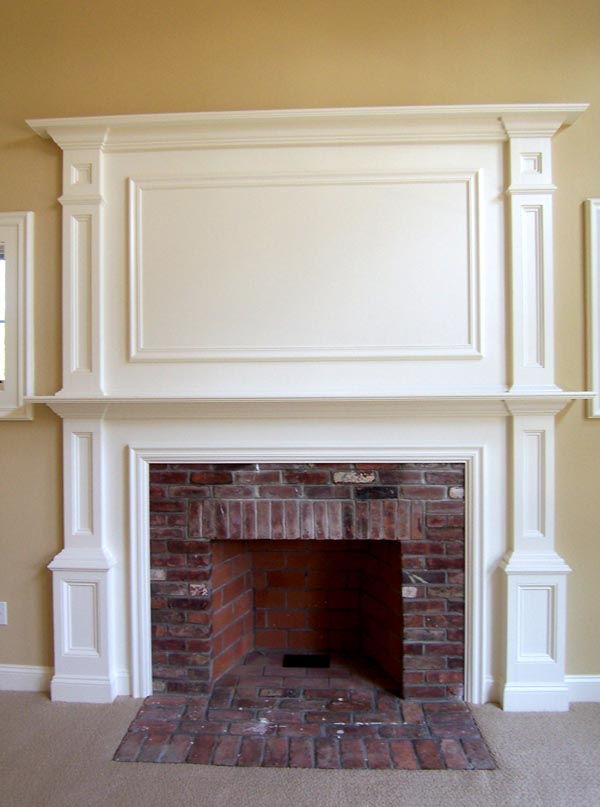 Photo of owner inspired custom design new home - fireplace photo