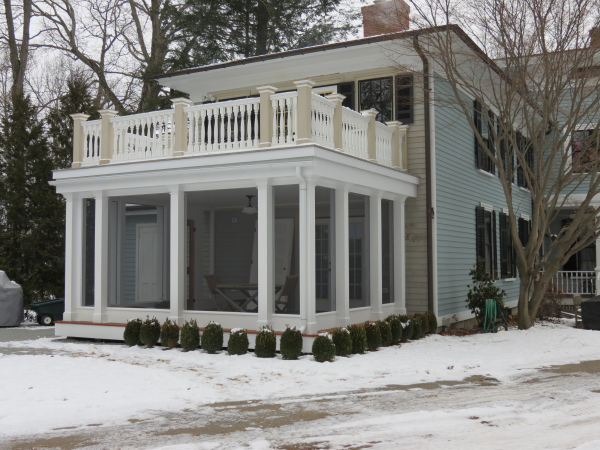 Photo of 3-season porch addition - completed view