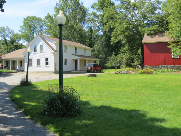 Photo of home remodeling to convert to farmhouse - finished view