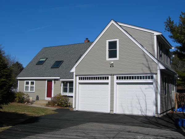 Photo of garage addition - completed view