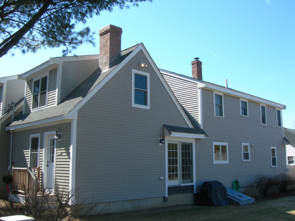 Photo of garage addition - finished rear of home