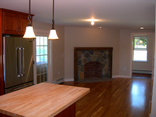Photo of garage addition - dining area view