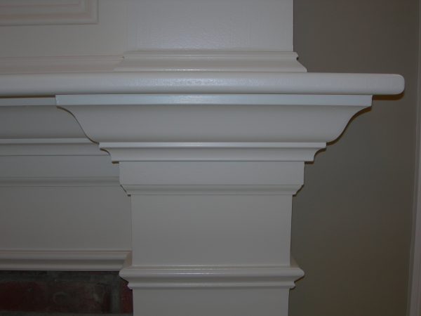 Photo of owner inspired custom design new home - view of mantel molding