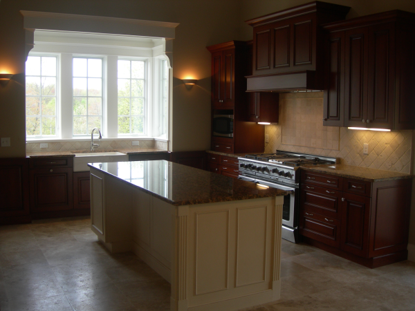 Photo of new kitchen in the new home