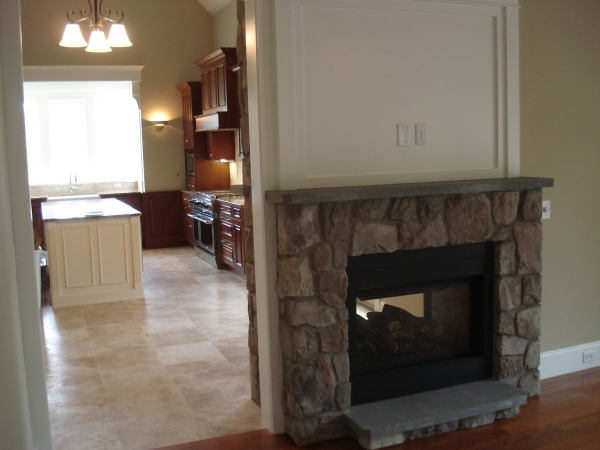 Photo of see-through fireplace